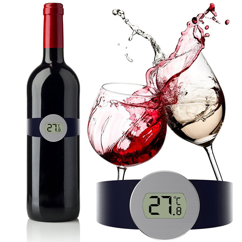 MOSEKO 디지털 읽기 온도계 샴페인 및 와인 병 SnapDED 디스플레이 와인 애호가/MOSEKO Digital Read Thermometer Champagne and Wine Bottle SnapLED Display for Wine Enthusiast