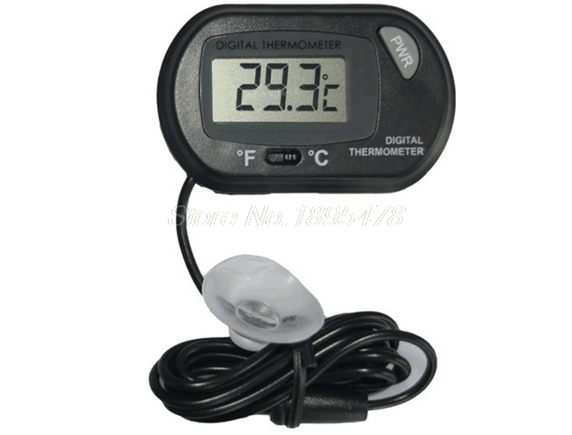 [해외]100PCS LCD 디지털 홈 생선 탱크 수족관 센서 온도계 유선 전자 온도 측정/100PCS LCD Digital Home Fish Tank Aquarium Sensor Thermometer Wired Electronic Temperature Measureme