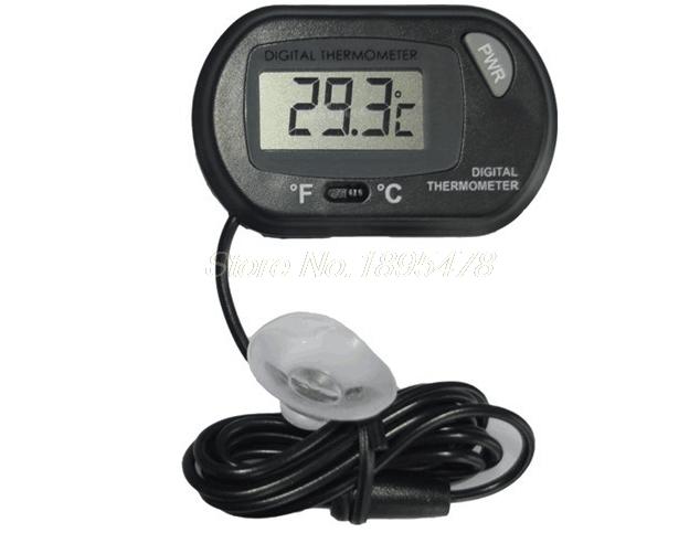[해외]100PCS LCD 디지털 홈 생선 탱크 수족관 센서 온도계 유선 전자 온도 측정/100PCS LCD Digital Home Fish Tank Aquarium Sensor Thermometer Wired Electronic Temperature Measureme