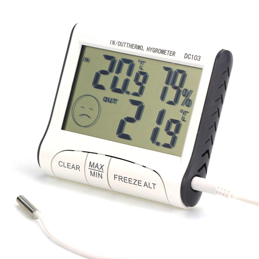 [해외]뜨거운 디지털 LCD 야외 실내 온도계 습도계 습도계 C / F/Hot Digital LCD Outdoor Indoor Weather Thermometer Hygrometer Humidity Meter C/F