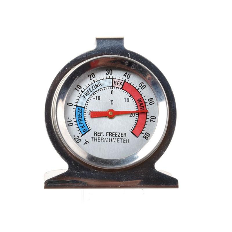[해외]1Pc 스테인레스 스틸 냉장고 냉동고 온도계 냉장고 DIAL 유형 Hang Stand Hot/1Pc Stainless Steel Refrigerator Freezer Thermometer Fridge DIAL Type Hang Stand Hot