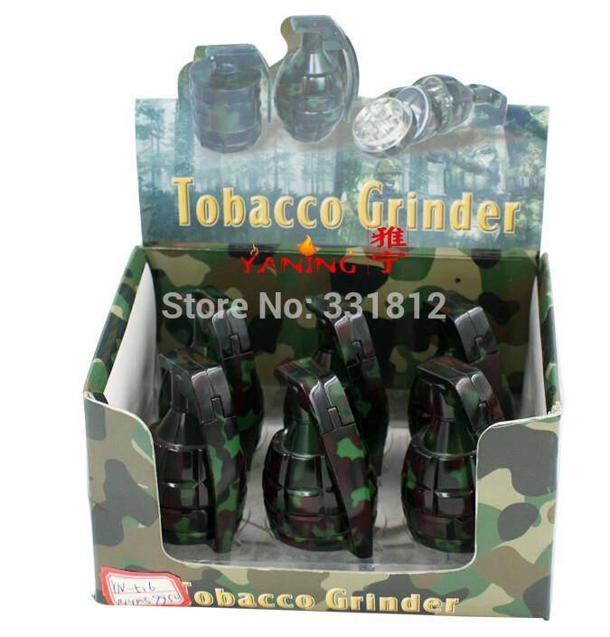 [해외]2015 큰 담배 분쇄기 3 층 금속 담배 잡초 위장 수류탄 분쇄기/2015 new arrival large cigarette grinder 3 layer metal tobacco WEED Camouflage grenade grinder