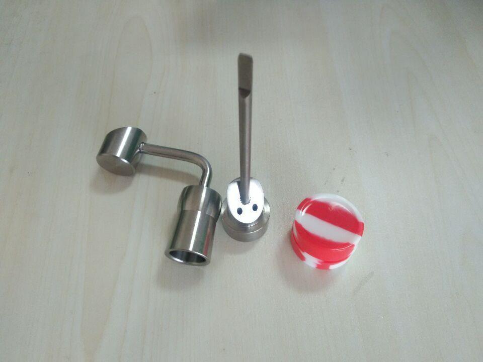 [해외]왁스 BHO 오일 기화기 살짝 적셔 왁스 컨테이너의 티타늄 소시지 nailTitanium 수화물 캡 1 임의의 실리콘 항아리/Titanium banger nailTitanium carb cap1 random Silicone Jar for Wax Bho Oil V