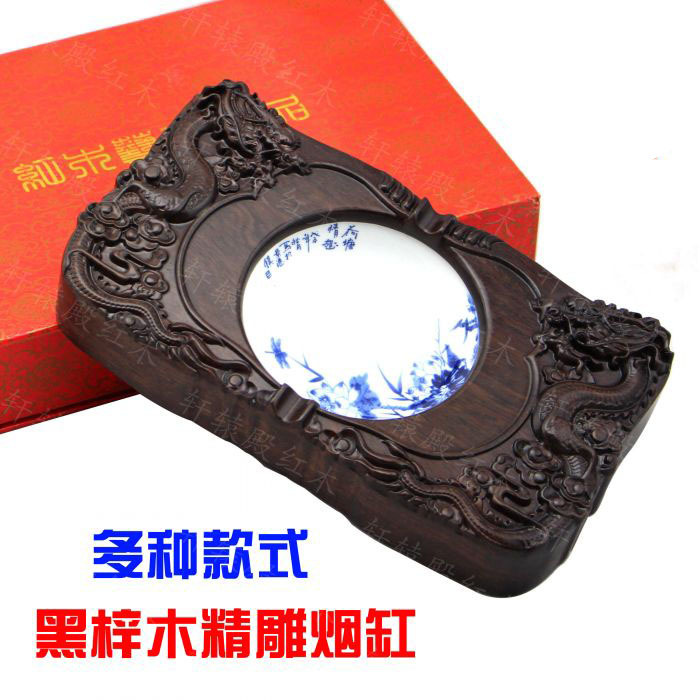 [해외]붉은 나무 조각 나무 재떨이 선물 재떨이 선물 boxesblack Azusa 나무 재떨이 흡연/Wholesale red wood carving wood ashtray gift ashtray gift boxesblack Azusa wood Ashtray Smoki
