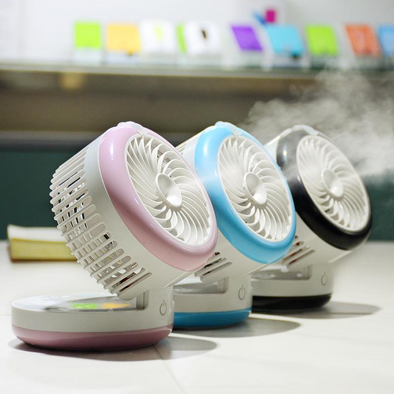 [해외]미니 물 안개 팬 usb 물 스프레이 냉각 팬 사무실 및 집에 대 한 작은 휴대용 에어컨 가습 냉각 팬