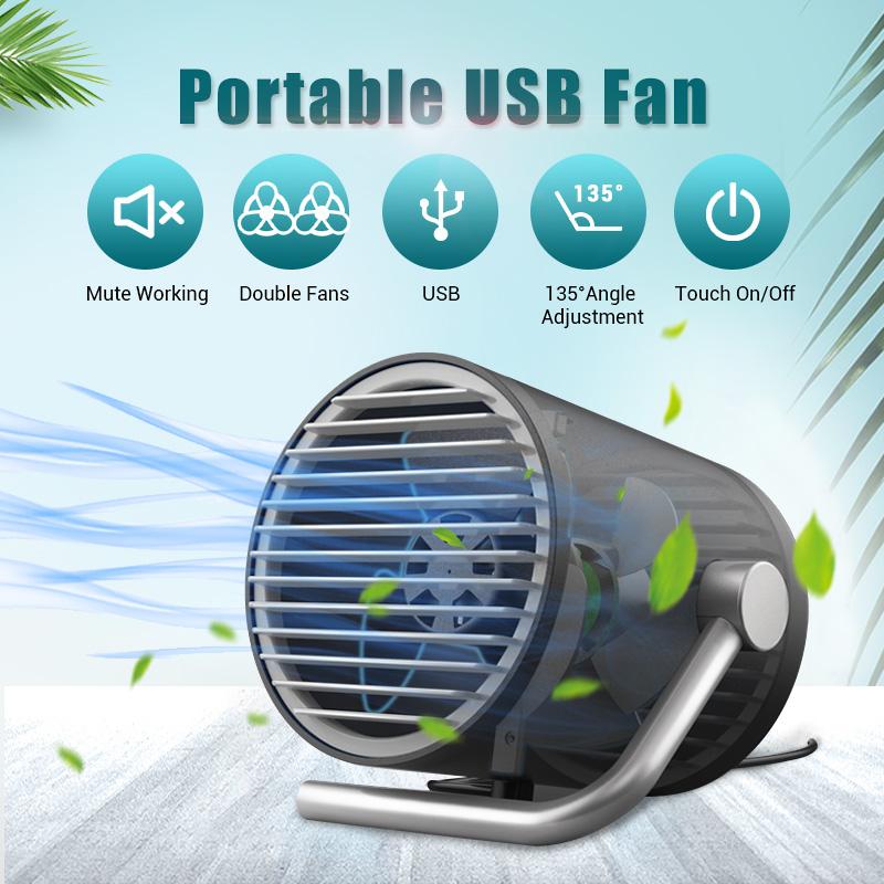 [해외]창조주 미니 데스크톱 USB 팬 테이블 휴대용 자연 바람 미니멀리스트 디자인 블랙 화이트 핑크 스타일 에어컨 컨디셔너/Creater Mini Desktop USB Fan Table Portable Nature Wind Minimalist Design Black