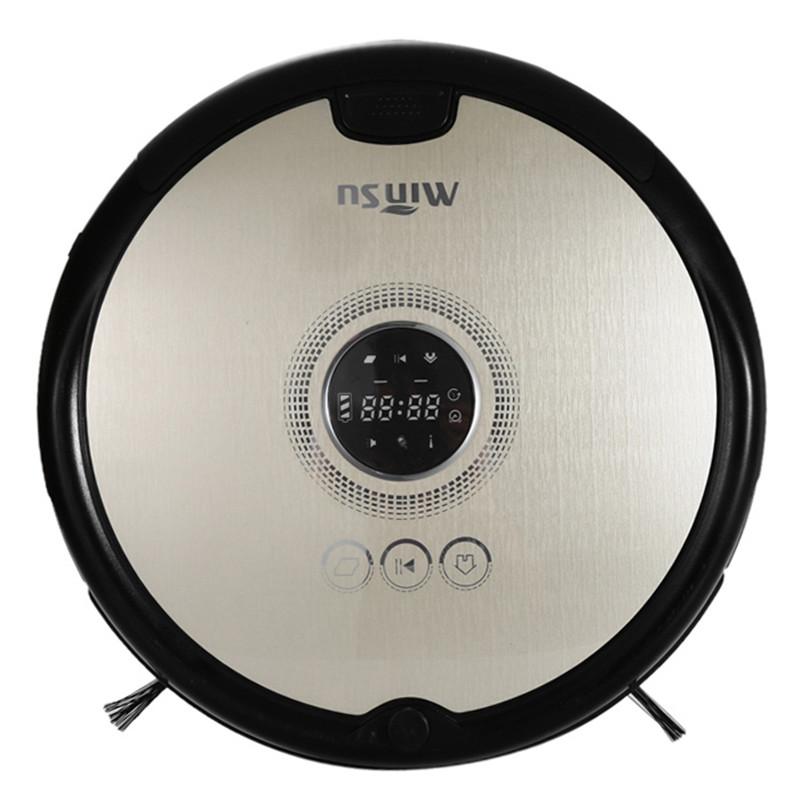 [해외]MinSu 800Pa 가정용 습식 세정기 용 스마트 로봇 진공 청소기 LCD 가전 4 청소 모드 리모콘/MinSu 800Pa Smart Robotic Vacuum Cleaner For Home Dry Wet Cleaning Machine LCD Home Appl