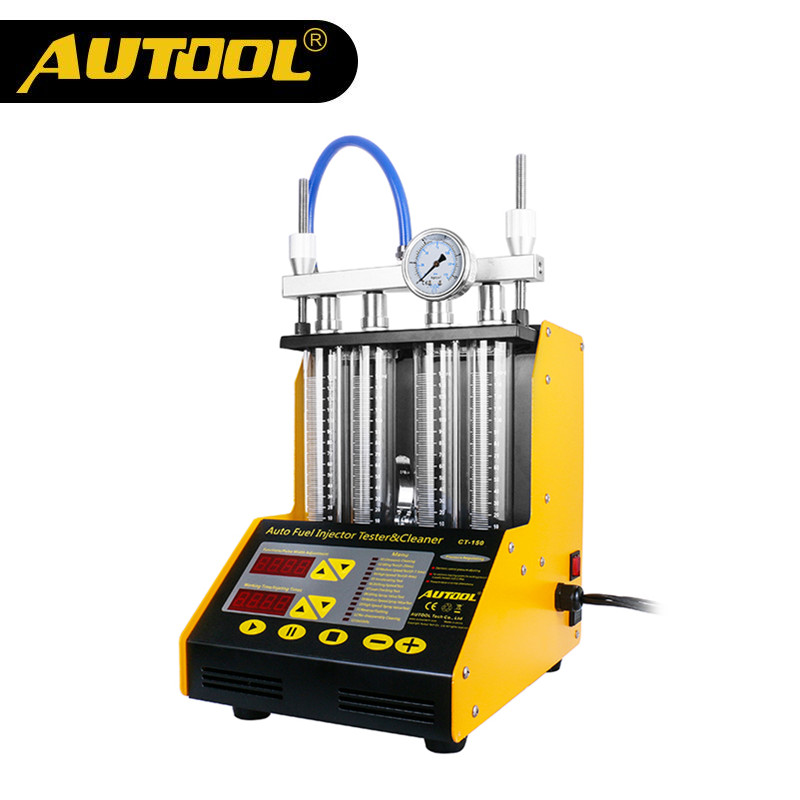 [해외]공식 AUTOOL CT150 4 실린더 자동 초음파 인젝터 클리너 및 테스터기 220 / 110V 2 in 1/Official AUTOOL CT150 4 Cylinder Auto Ultrasonic Injector Cleaner and Tester Machine