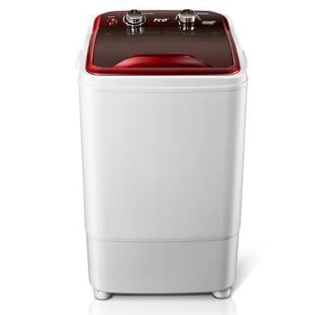 [해외]3.5 Kg 단일 실린더 고용량 자외선 바이올렛 바이오닉 핸드 워시 소형 반자동 웨이브 휠 미니 세탁기 마노 레드/3.5 Kg Single Cylinder High Capacity UV Violet Bionic Hand Wash Small Semi-automat