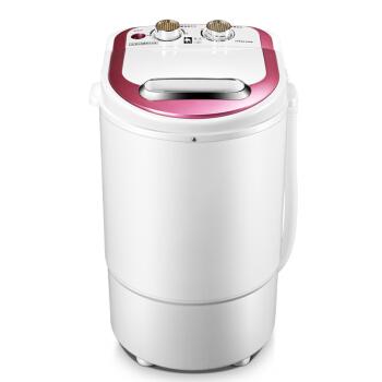 [해외]단일 배럴 소형 유아 반자동 미니 전원 세탁기 푸른 빛 Electroplating Pp 재료 생체 공학 핸드 워시/Single Barrel Small Infant Semiautomatic Mini Power Washing Machine Blue Light Ele
