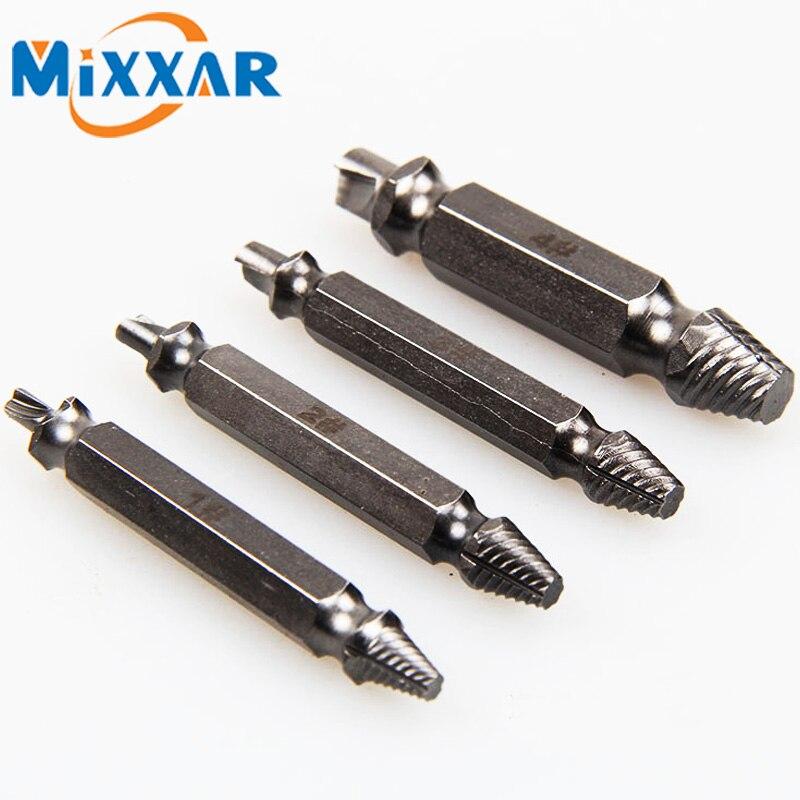 [해외]ZK20 4PCS 빠른 탈수기 제거 도구 세트 슬라이드 손상 스크류 추출기 드릴 비트 전원 도구 부품/ZK20 4PCS Quick Extractors Removal Tool Set for Slide Damaged Screw Extractor Drill Bits