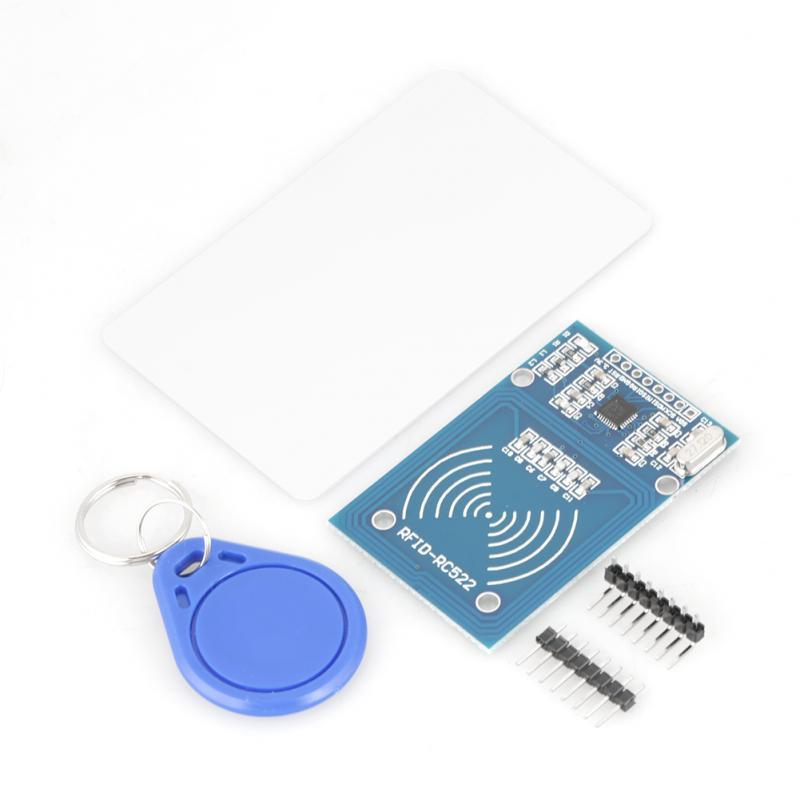 [해외]5 개 세트 RFID 모듈 RC522 RFID IC 카드 센서 모듈 및 S50 빈 카드 및 키 링/5 pcs /set RFID Module RC522 RFID IC Card Sensor Module and S50 Blank Card and Key Ring