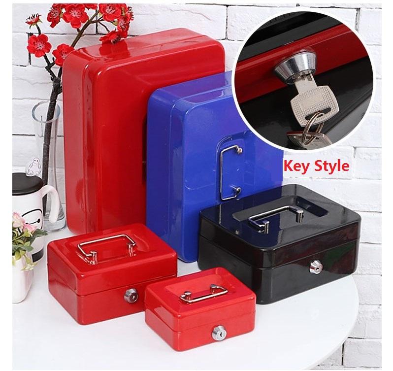 [해외]스틸 키 세이프 캐시 박스 저장 내용 종이 저금통 카드 A4 문서 대형 박스/Steel Key Safe Cash Boxes Store Content Paper Piggy Bank Card A4 Document Large Boxes