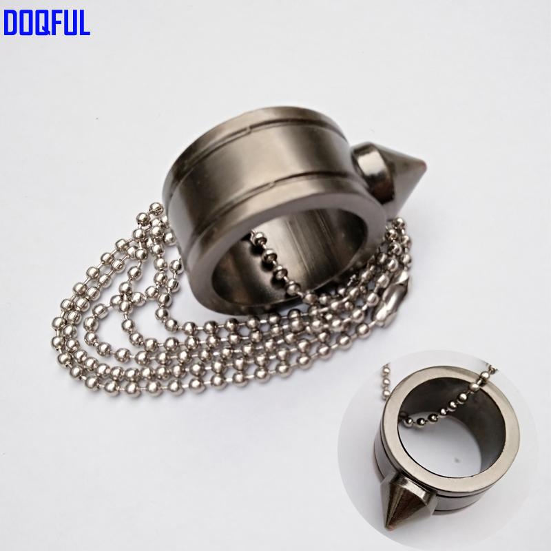[해외]셀프 디펜스 핑거 링 체인 보호용 목걸이 유리 브레이커 쿨 플레이 서바이벌 무기/Self Defense Finger Ring Chain Protective Necklace Glass Breaker Cool Play Survival Weapon