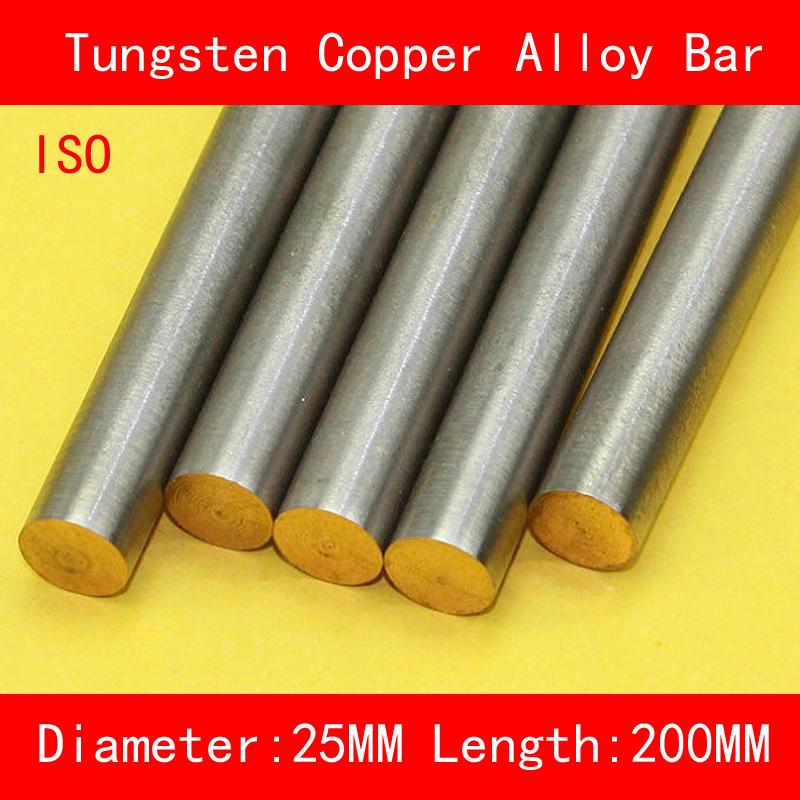 [해외]직경 25mm 길이 200mm 텅스텐 구리 합금 바 W80Cu20 W80 텅스텐 바 명소 ISO 인증서/Diameter 25mm Length 200mm Tungsten Copper Alloy Bar W80Cu20 W80 Tungsten Bar Spot ISO C