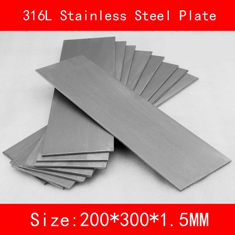 [해외]316L 스테인레스 스틸 플레이트 크기 1.5 * 200 * 300mm 금속 시트 닦았 표면/316L Stainless Steel plate size 1.5*200*300mm metal Sheet Brushed surface