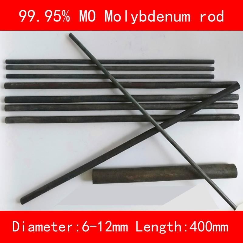 [해외]99.95 % 순수 몰리브덴 바 직경 6mm 8mm 10mm 12mm 길이 400mm 금속 Mo 막대/99.95% pure Molybdenum bar diameter 6mm 8mm 10mm 12mm length 400mm metal Mo rod