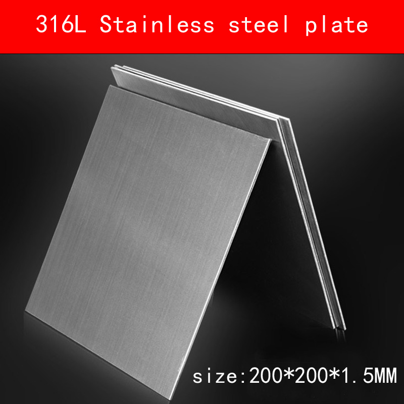 [해외]316L 스테인레스 스틸 플레이트 크기 1.5 * 200 * 200mm 금속 시트 닦았 표면/316L Stainless Steel plate size 1.5*200*200mm metal Sheet Brushed surface