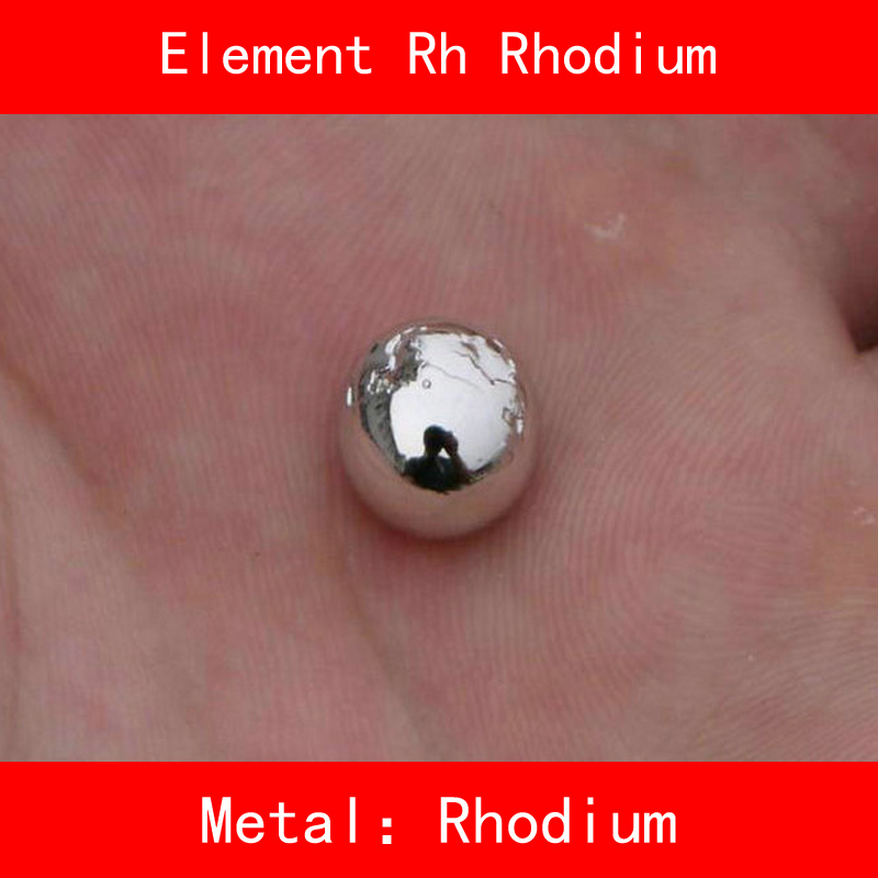 [해외]Rh 로듐 볼 분말 원료 순수한 99.99 % DIY를귀금속의 주기율표 연구실 수집 교육/Rh Rhodium Ball Powder Raw Material Pure 99.99% Periodic Table of Precious Metal for DIY Researc