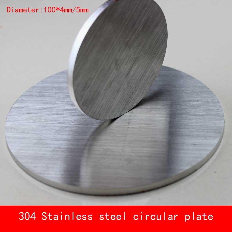 [해외]직경 100 * 4mm / 5mm 둥근 304 스테인리스 격판 커버 5mm 간격 D100X4mm D100X5mm 주문품 CNC 레이저 절단/Diameter 100*4mm/5mm circular round 304 Stainless steel plate 5mm th