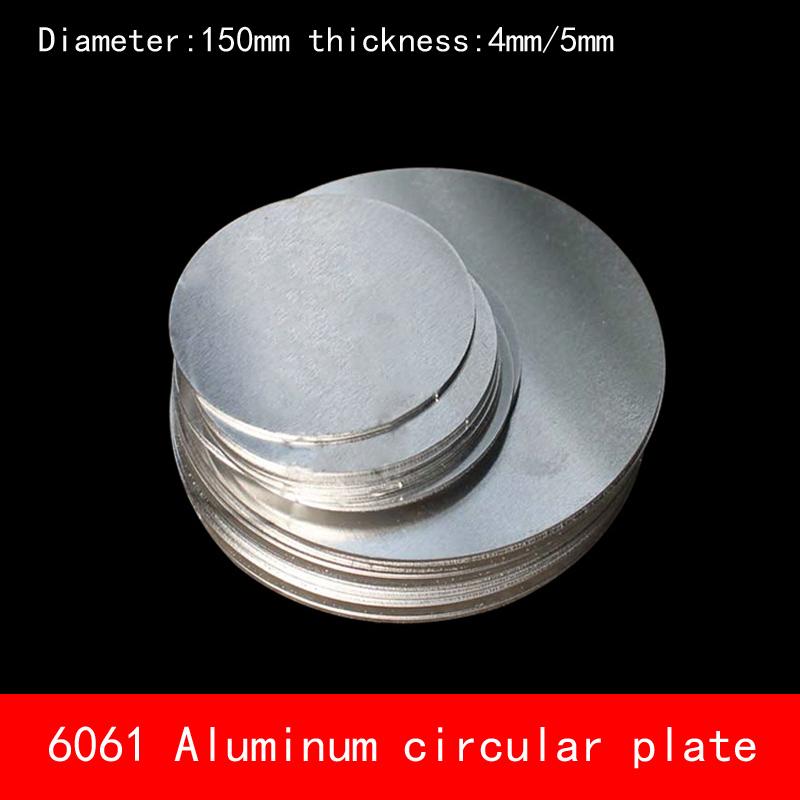[해외]지름 150mm * 4mm 5mm 원형 원형 알루미늄 플레이트 4mm / 5mm 두께 D150X4MM D150X5MM 맞춤 CNC 부품 용/Diameter 150mm*4mm 5mm circular round Aluminum plate 4mm/5mm thickne