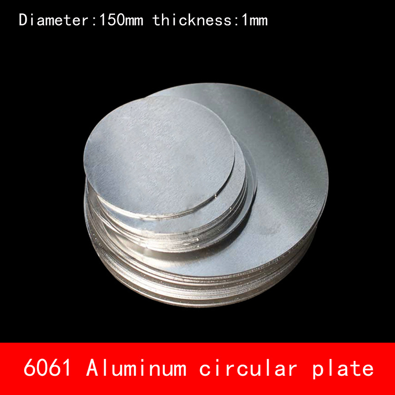 [해외]지름 150mm * 1mm 둥근 원형 알루미늄 플레이트 1mm 두께 D150X1MM 맞춤 CNC 부품 용/Diameter 150mm*1mm circular round Aluminum plate 1mm thickness D150X1MM custom made CNC