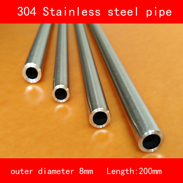[해외]304 스테인레스 스틸 파이프 튜브 외경 8mm 벽 두께 1mm 길이 200mm/304 Stainless steel pipe tube outer diameter 8mm wall thickness 1mm length 200mm