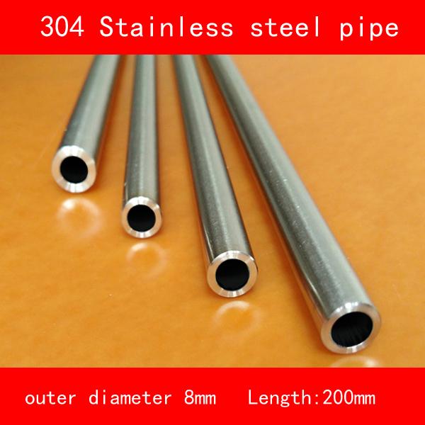 [해외]304 스테인레스 스틸 파이프 튜브 외경 8mm 벽 두께 1mm 길이 200mm/304 Stainless steel pipe tube outer diameter 8mm wall thickness 1mm length 200mm