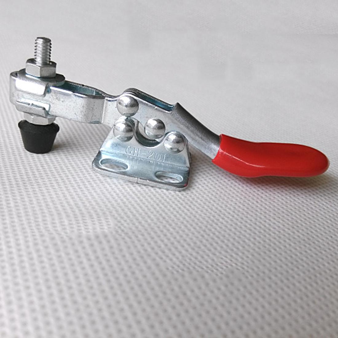 [해외]상단 고정 4Pcs / Set 금속 수평 퀵 릴리스 핸드 툴 토글 클램프 고정 공작물/Top 4Pcs/Set Metal Horizontal Quick Release Hand Tool Toggle Clamp For Fixing Workpiece