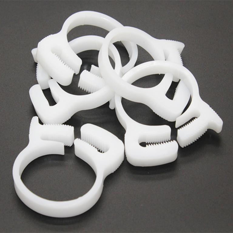 [해외]50PCS / LOT 흰색 플라스틱 튜브 클립 파이프 OD9.1-10.2mm에 대 한 나일론 파이프 호스 클램프/50PCS/LOT White Plastic Tube Clips Nylon pipe hose clamps for Pipe OD9.1-10.2mm