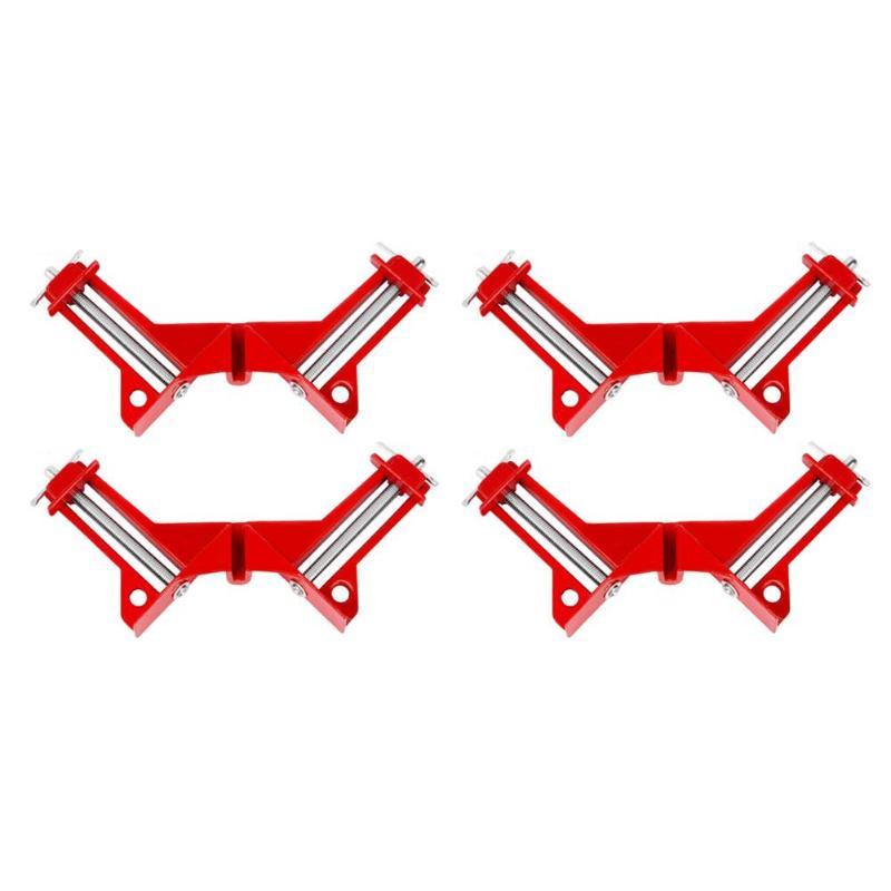[해외]1-4pcs 다기능 90도 직각 클립 그림 프레임 코너 클램프 마이 터 클램프 코너 홀더 목공 핸드 툴/1-4pcs Multifunction 90 degree Right Angle Clip Picture Frame Corner Clamp Mitre Clamps