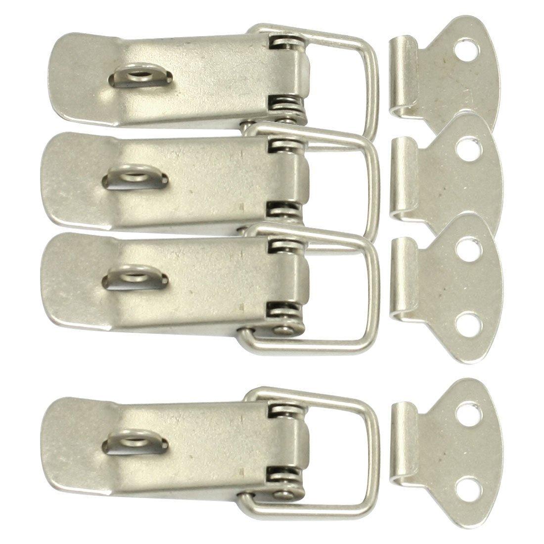 [해외]DSHA 새로운 Hot 새로운 4 개은 기계 설비 장 상자 봄 적재 된 걸쇠 기치는 받침 달기/DSHA New Hot New 4 Pcs Silver Hardware Cabinet Boxes Spring Loaded Latch Catch Toggle Hasp