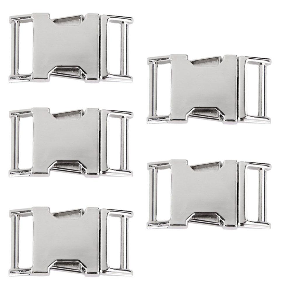 [해외]10mm 웨빙 벨트에 대 한 5pcs 금속 측면 릴리스 버클/5pcs Metal Side Release Buckles for 10mm Webbing Strap