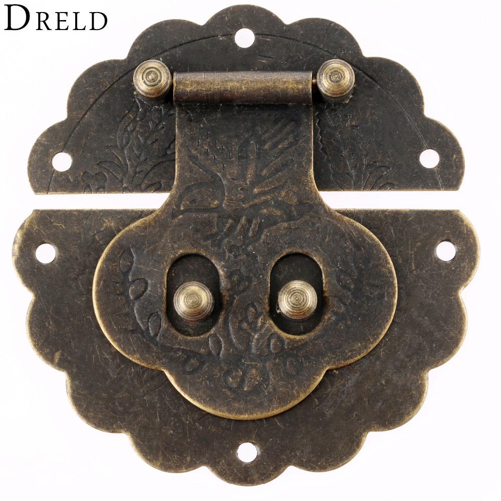 [해외]골동품 상자 래치 장식 서랍 Hasp 보석 나무 상자 가방 Hasp 잠금 LatchScrews 빈티지 황동 하드웨어 80mm/Antique Box Latches Decorative Drawer Hasp Jewelry Wooden Box Suitcase Hasp