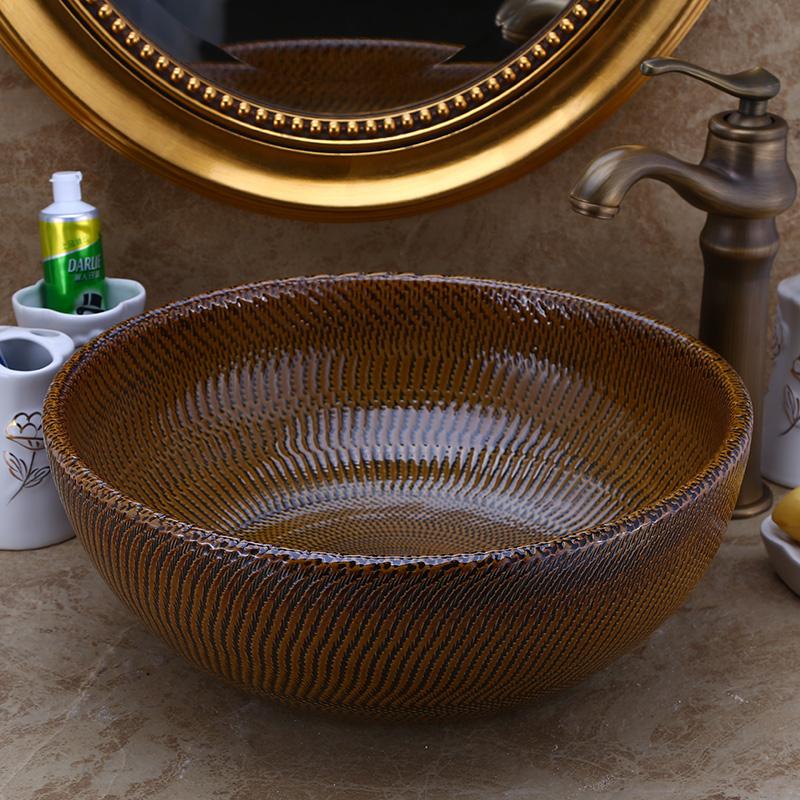 [해외]유럽 ??빈티지 스타일 아트 씻어 분지 세라믹 카운터 톱 워시 분지 욕실 싱크 유럽 빈티지 도자기 예술 분지/Europe Vintage Style Art wash basin Ceramic Counter Top Wash Basin Bathroom Sinks eur
