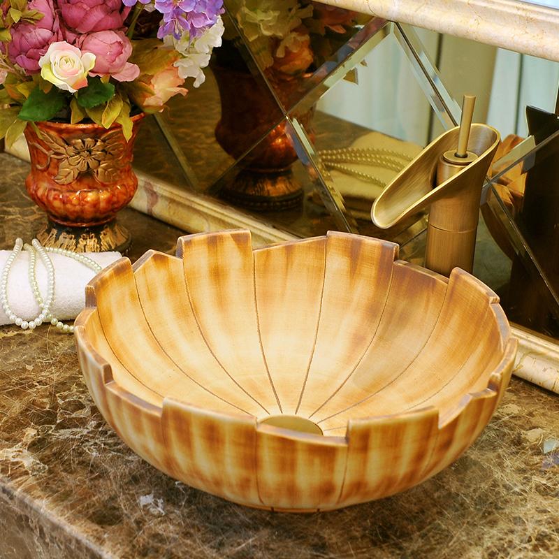 [해외]유럽 ??스타일 수제 수조 세라믹 씻어 분지 욕실 분지 욕실 싱크 도자기 골동품 도자기 싱크대/Europe Style Handmade Countertop Ceramic wash basin Bathroom Basin Bathroom Sink porcelain an