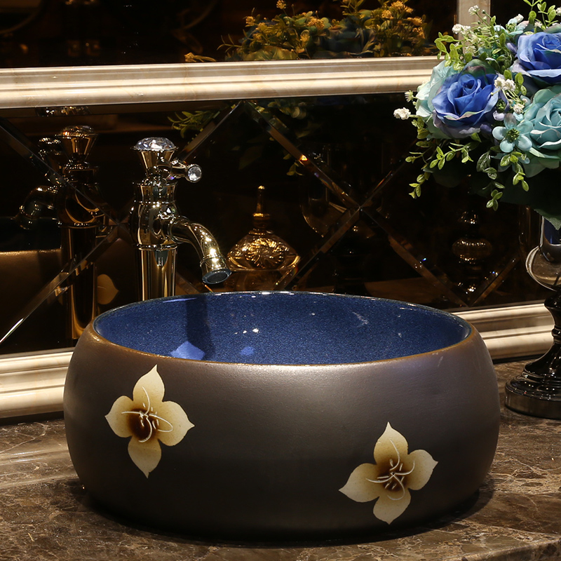 [해외]유럽 ??빈티지 스타일 세라믹 세척 분지 카운터 상단 욕실 싱크 손 씻으 싱크 욕실 싱크대  도자기 싱크대/Europe Vintage Style Ceramic Washing Basin Counter top Bathroom Sink hand wash sink ba