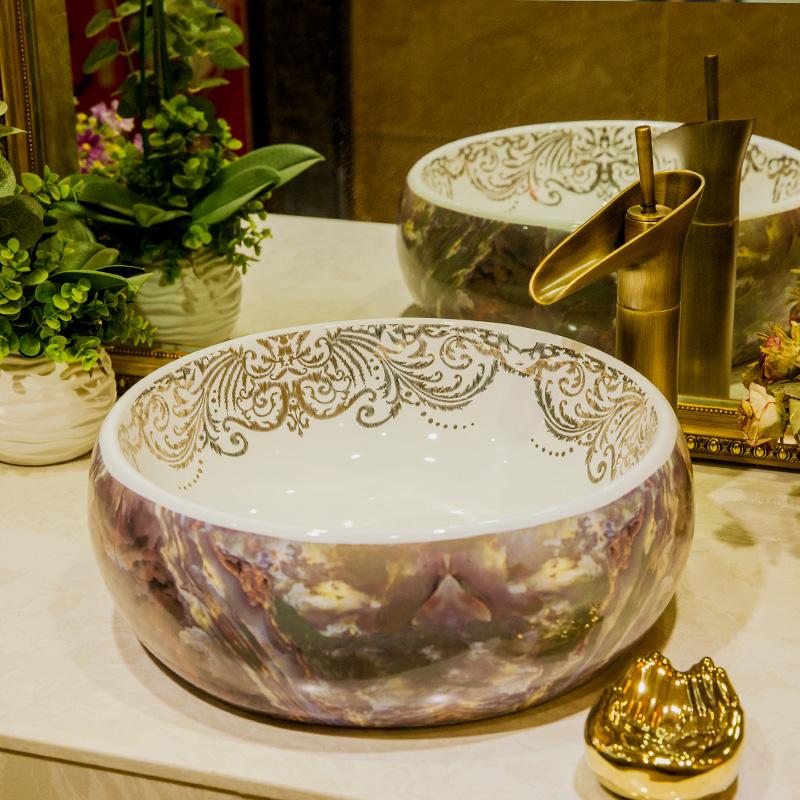 [해외]유럽 ??빈티지 스타일 세라믹 싱크대 카운터 탑 씻어 분지 욕실 싱크 도자기 그릇 씻어 분지 목욕 싱크대/Europe Vintage Style Ceramic Sinks Counter Top Wash Basin Bathroom Sink ceramic bowl wa