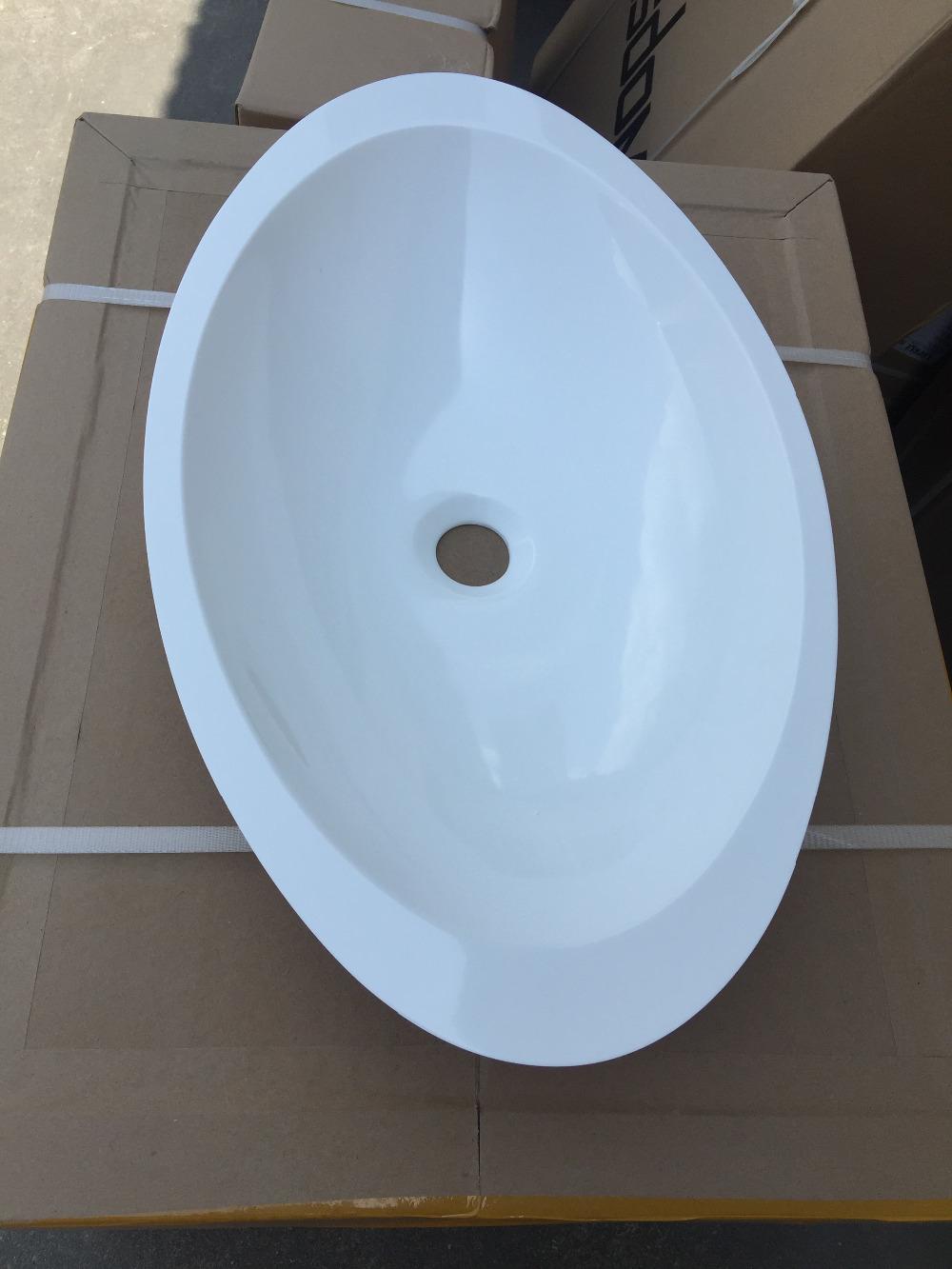 [해외]CUPC 승인 타원형 카운터 상단 아크릴 고형 표면 세면기 코리안 아크릴 수지 배수구 RS3857HG - 462/CUPC Approval Oval Counter top Acrylic Solid Surface Washbasin Corian Acrylic Resin