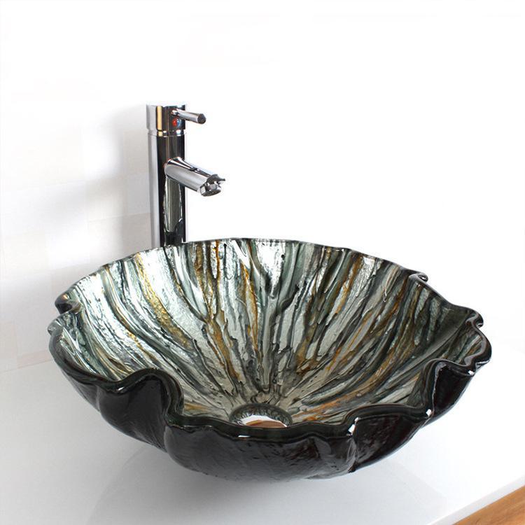 [해외]디자이너 멋진 유리 세면대 싱크대 욕실 클록 룸 카운터 탑 워시볼/Designer gorgeous glass basin sink BATHROOM CLOAKROOM COUNTER TOP WASH BOWL