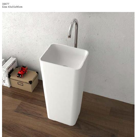[해외]코리안 욕실 받침대 워시 분지 독립 서피스 솔리드 서피스 매트 손 싱크 클록 룸 세면대 워시 싱크 RS38477/Corian Bathroom Pedestal Wash Basin Freestanding Solid Surface Matt Hand Sink Cloak