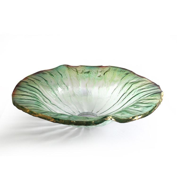 [해외]디자이너 멋진 고광한 FLUTED BATHROOM GLASS BASIN STUNNING 싱크대 세척 그릇/DESIGNER GORGEOUS LUXURY FLUTED BATHROOM GLASS BASIN STUNNING sink wash bowl