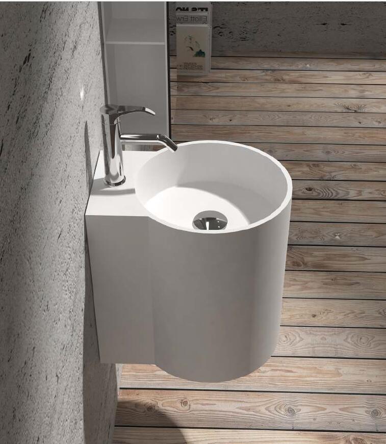 [해외]코리안 욕실 벽 엎드린 Wasbasin 솔리드 표면 핸드 싱크 Cloakroom 세면대 싱크 RS38479/Corian Bathroom Wall Hung Wasbasin Solid Surface Hand Sink Cloakroom Vanity Wash Sink