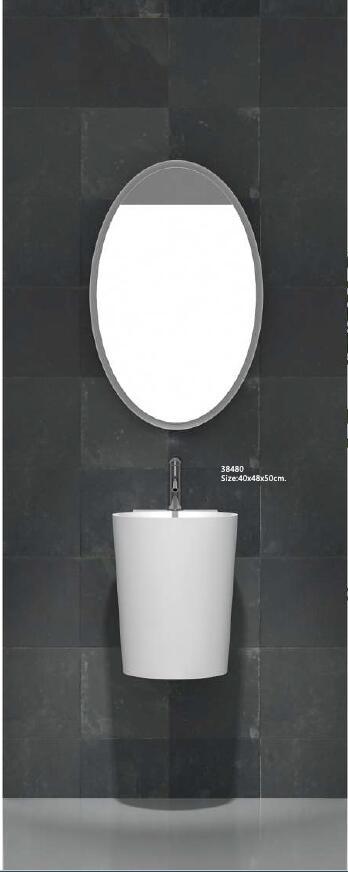 [해외]코리안 욕실 벽 엎드린 Wasbasin 솔리드 표면 핸드 싱크 Cloakroom 화장 대 워시 싱크 RS38480/Corian Bathroom Wall Hung Wasbasin Solid Surface Hand Sink Cloakroom Vanity Wash S
