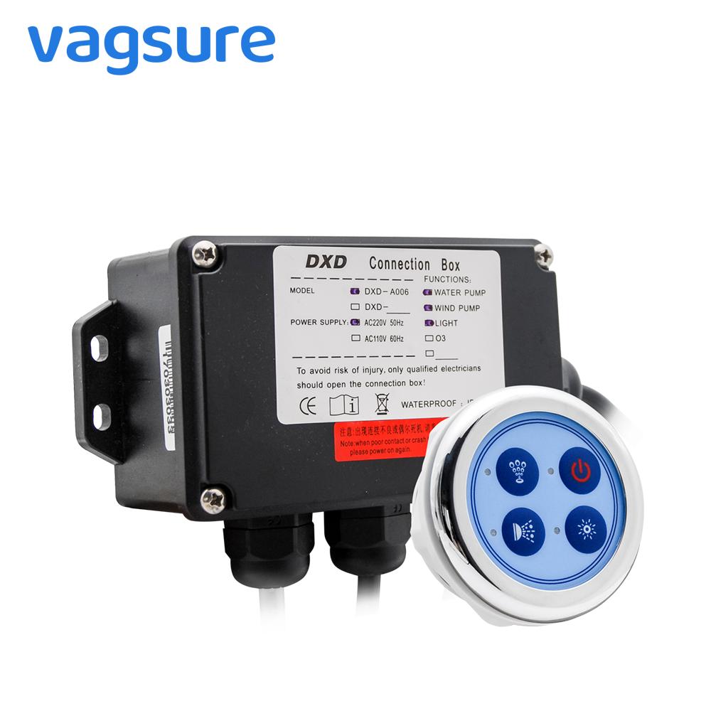 [해외]Vagsure 6.5cm 배수 펌프 컨트롤 패널 디지털 컨트롤러 키트 윈드 바닥 콤보 에어 마사지 월풀 욕조 용 욕조/Vagsure 6.5cm Bath Water Pump Control Panel Digital Controller Kit Wind Bottom S