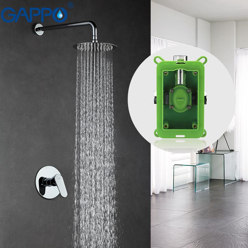 [해외]GAPPO 벽면 청동 비가 샤워 수도꼭지 크롬 욕조 꼭지 수도꼭지 수도꼭지 헤드 목욕 샤워 욕실 샤워 수도꼭지 세트 GA7101/GAPPO Wall bronze rainfall shower faucet chrome bathtub faucet tap waterfa