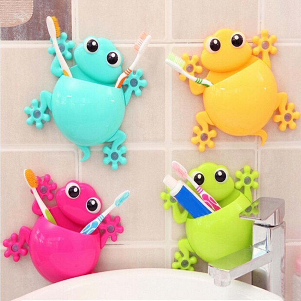 [해외]1PCS 크리 에이 티브 만화 빨판 도마뱀 칫 솔 벽 흡입 화장실 세트 칫 솔 홀더 위생 도자기 액세서리 무작위/1PCS Creative Cartoon Sucker Gecko Toothbrush Wall Suction Bathroom Sets Toothbrush