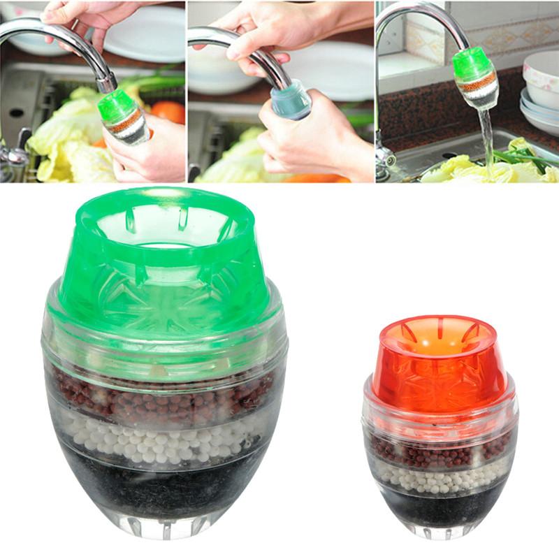[해외]Xueqin 가정용 주방 홈 활성탄 수도꼭지 미니 수돗물 정수기 여과 카트리지 21-23mm 무작위 색상/Xueqin Household Kitchen Home Activated Carbon Faucet Mini Tap Water Filter Purifier Fi