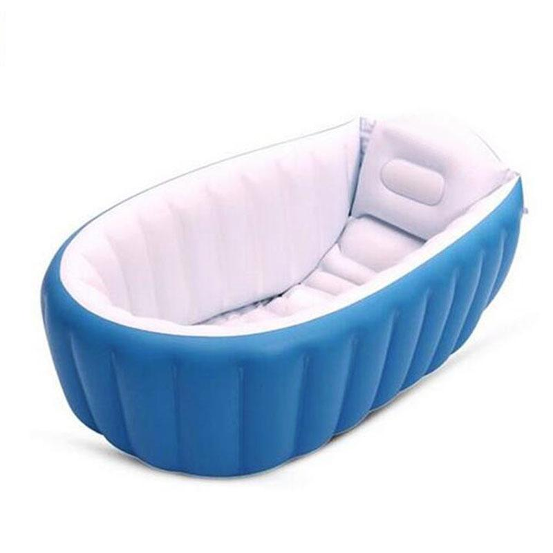 [해외]휴대용 풍선 아기 목욕 키즈 욕조 굵게 접는 Washbowl 어린이 욕조 아기 수영장/Portable Inflatable Baby Bath Kids Bathtub Thickening Folding Washbowl Children Tub Baby Swimming
