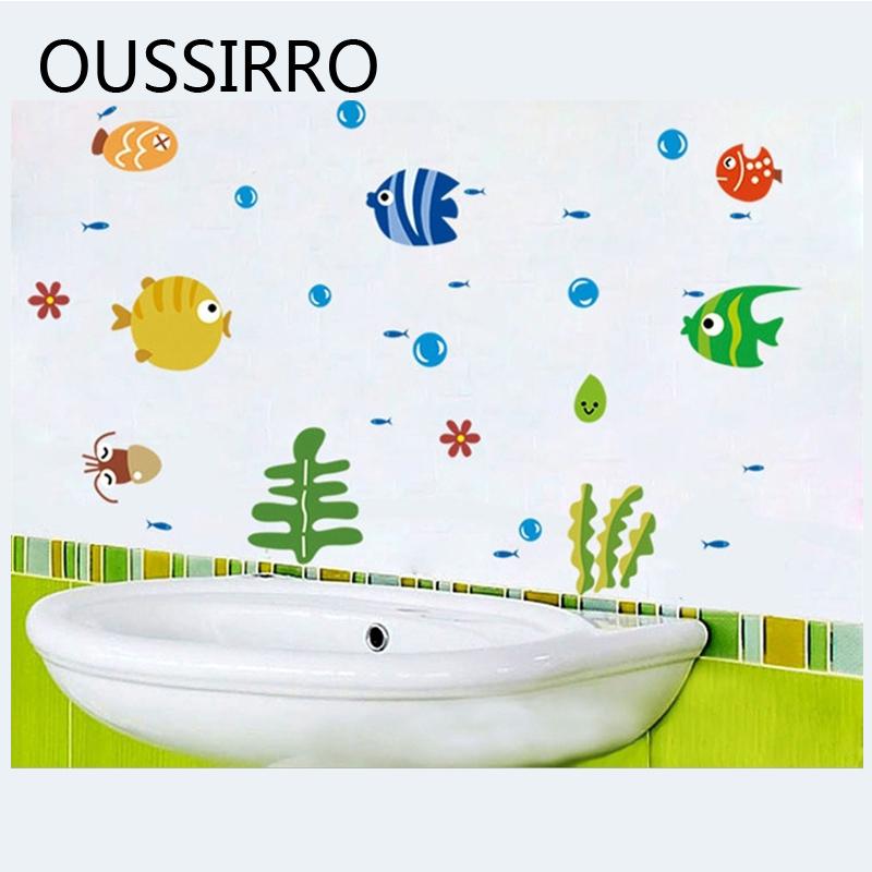 [해외]1 개 이동할 수있는 목욕탕 스티커 화장실 스티커 Eco-friendly 귀여운 만화 물고기 스티커 목욕탕 아기 방 아이들 탁구 장식/1Pcs Removable Bathroom Sticker Toilet Sticker Eco-friendly Cute Cartoo